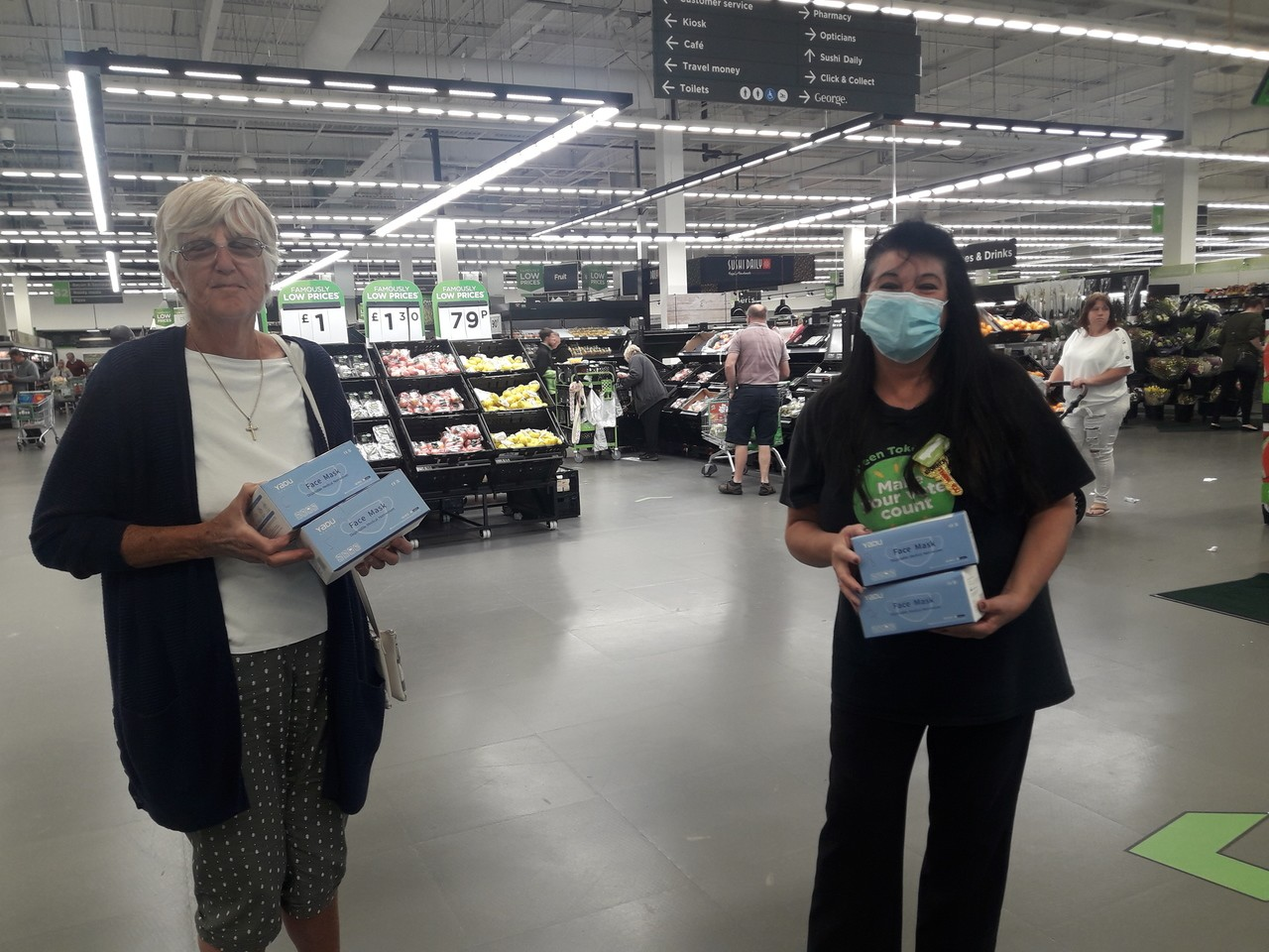 Face mask donations from Asda Patchway | Asda Patchway