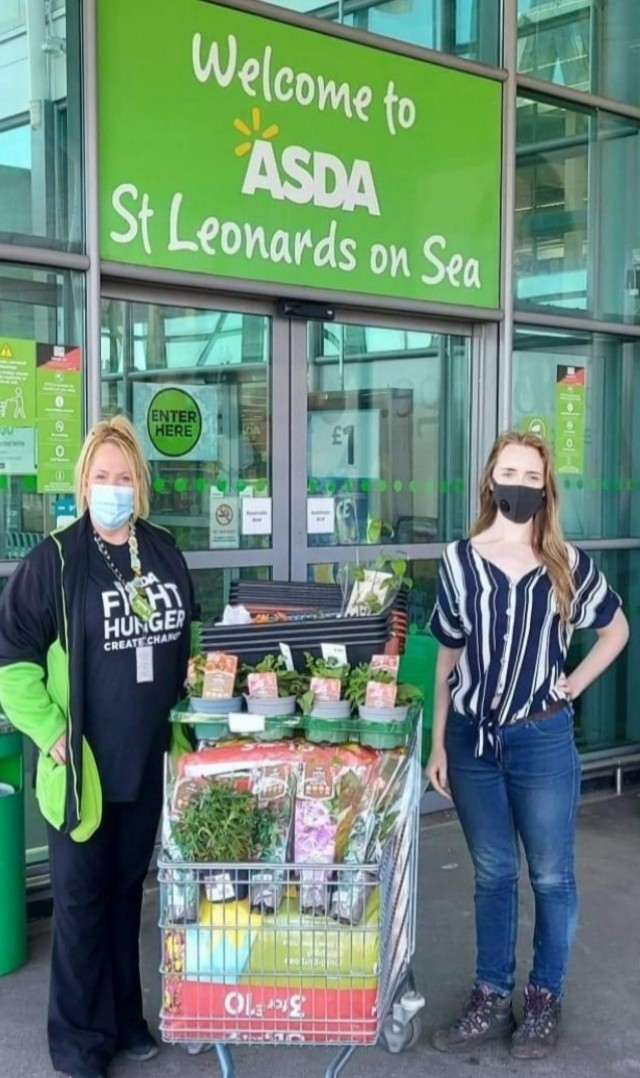 Donating to our local park | Asda St Leonards on Sea