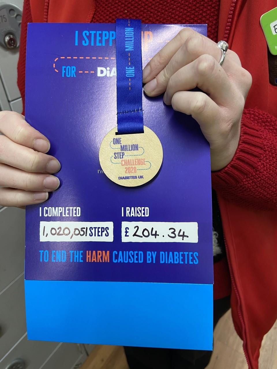 Our amazing colleague Erika raises money for Diabetes UK   Asda Biggleswade