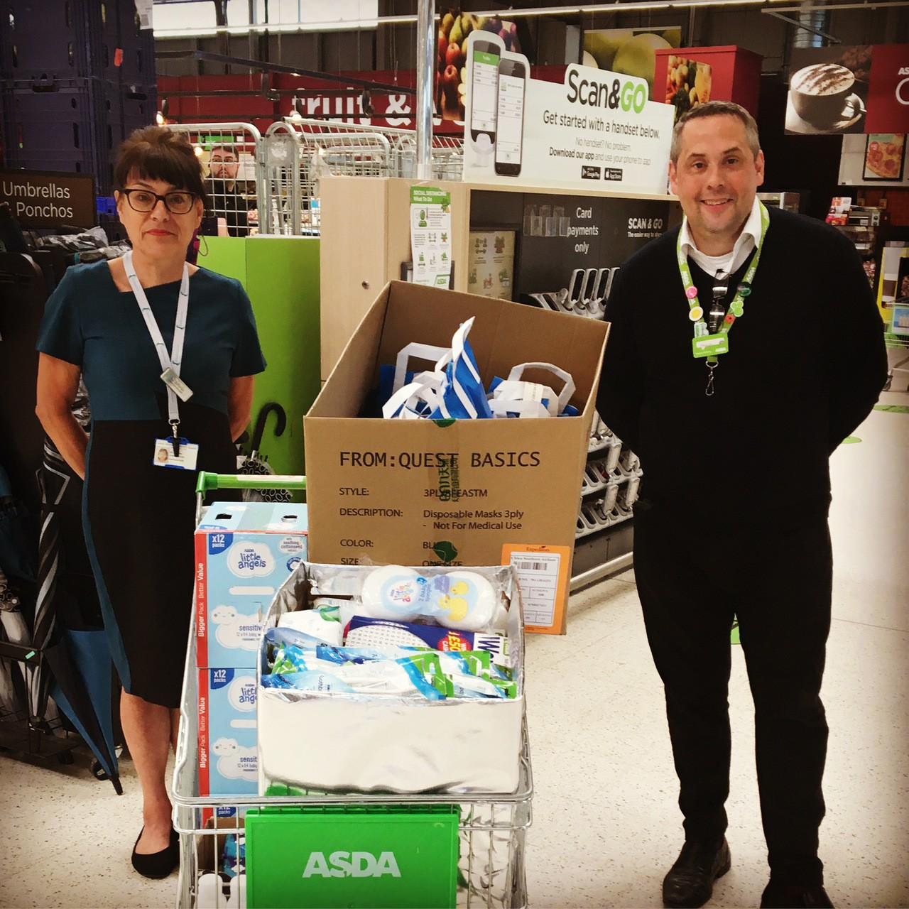 Donations to food bank local school and Hospital ward | Asda Swindon Haydon