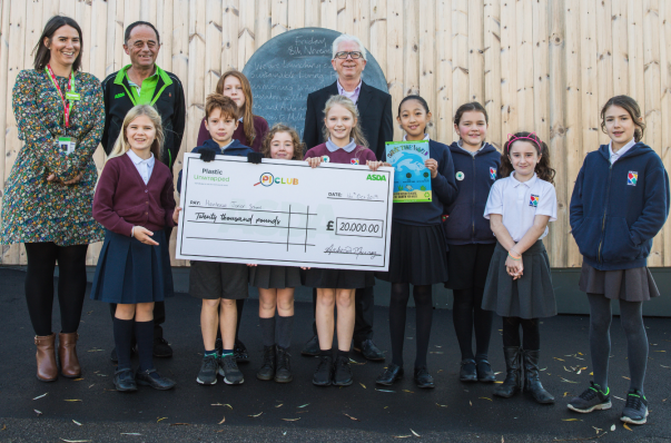 Henleaze Primary School in Bristol wins £20,000 in Asda's national poster competition aimed at tackling plastic pollution