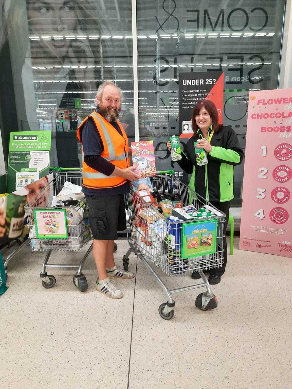 Teaming up to fight hunger | Asda Poole