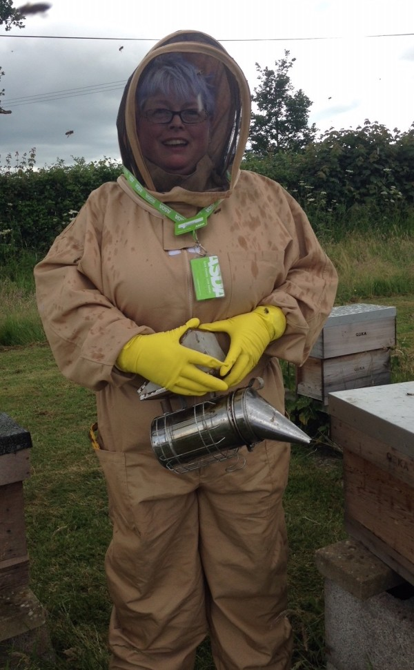 Bridgwater community champion and beekeeper Jo