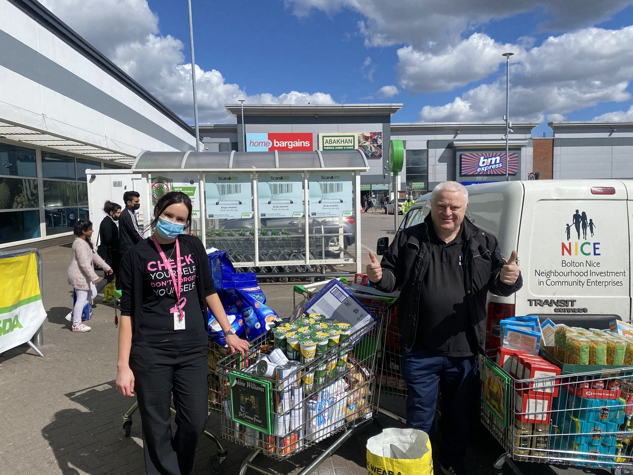 Nice to help Bolton charity | Asda Burnden Park