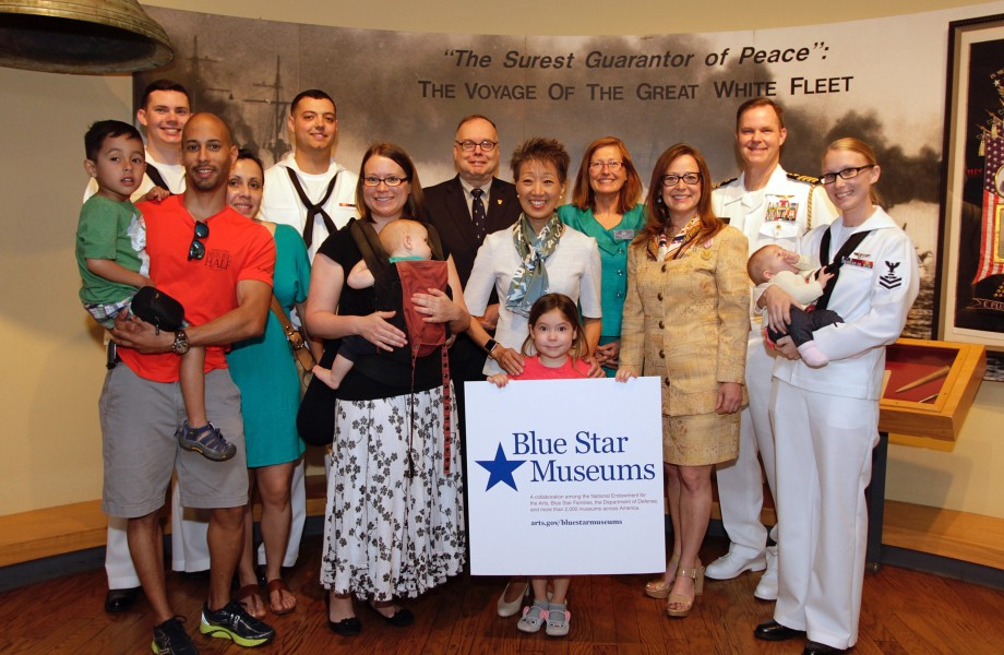 Members of Blue Star Families at a Blue Star Museums announcement