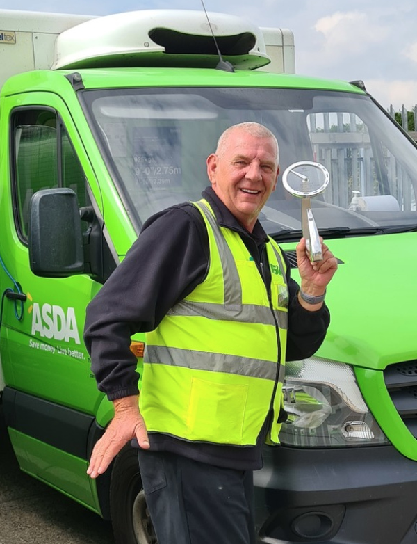 Asda delivery driver Ron Teskowski has won the Extra Mile award at the Microlise Driver of the Year Awards 2021