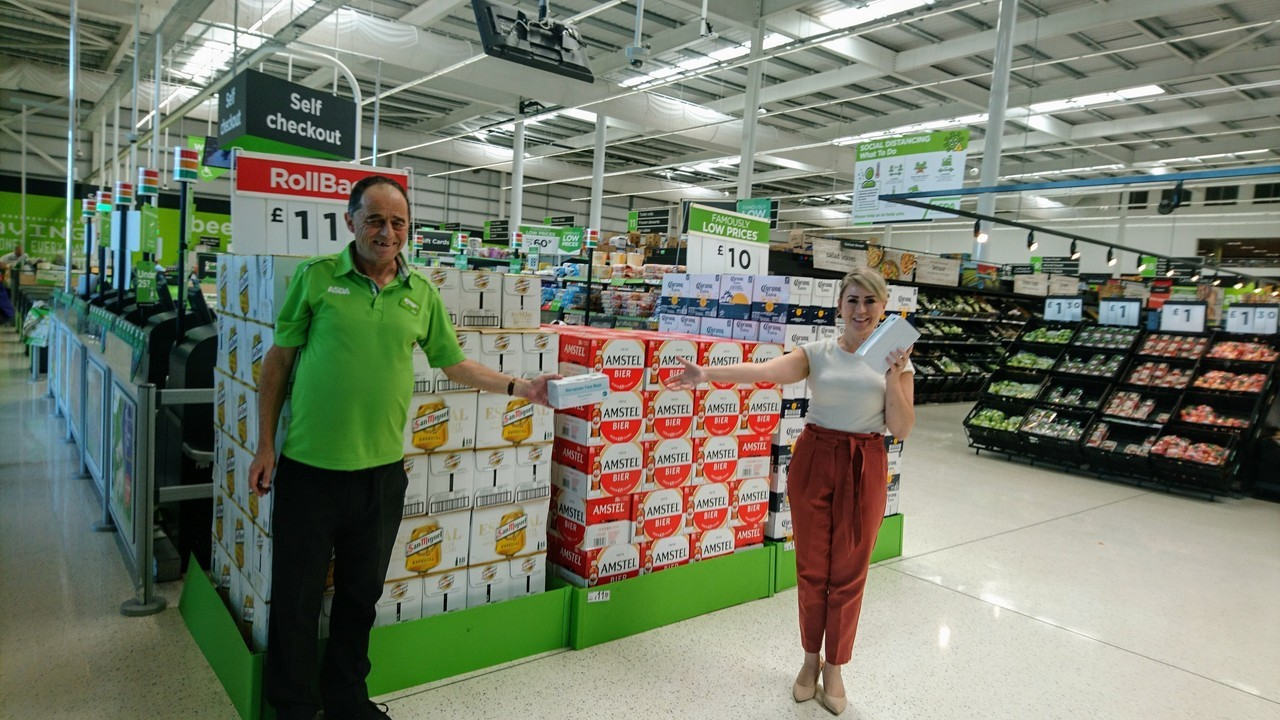 800 face masks for local care home | Asda Filton