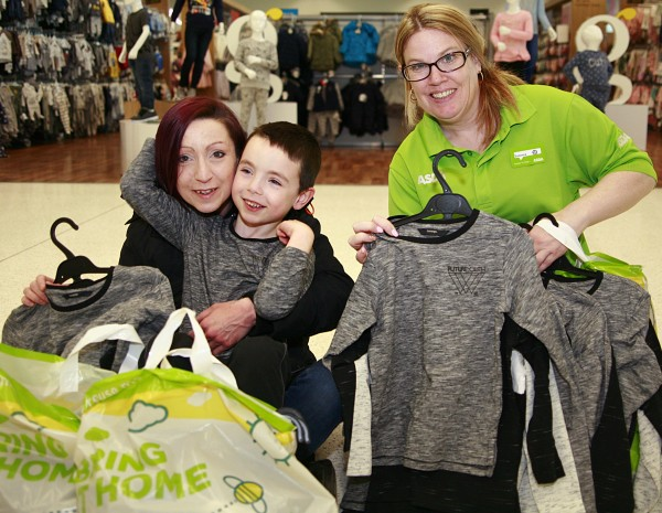 Tops for Jake at Asda Milton Keynes