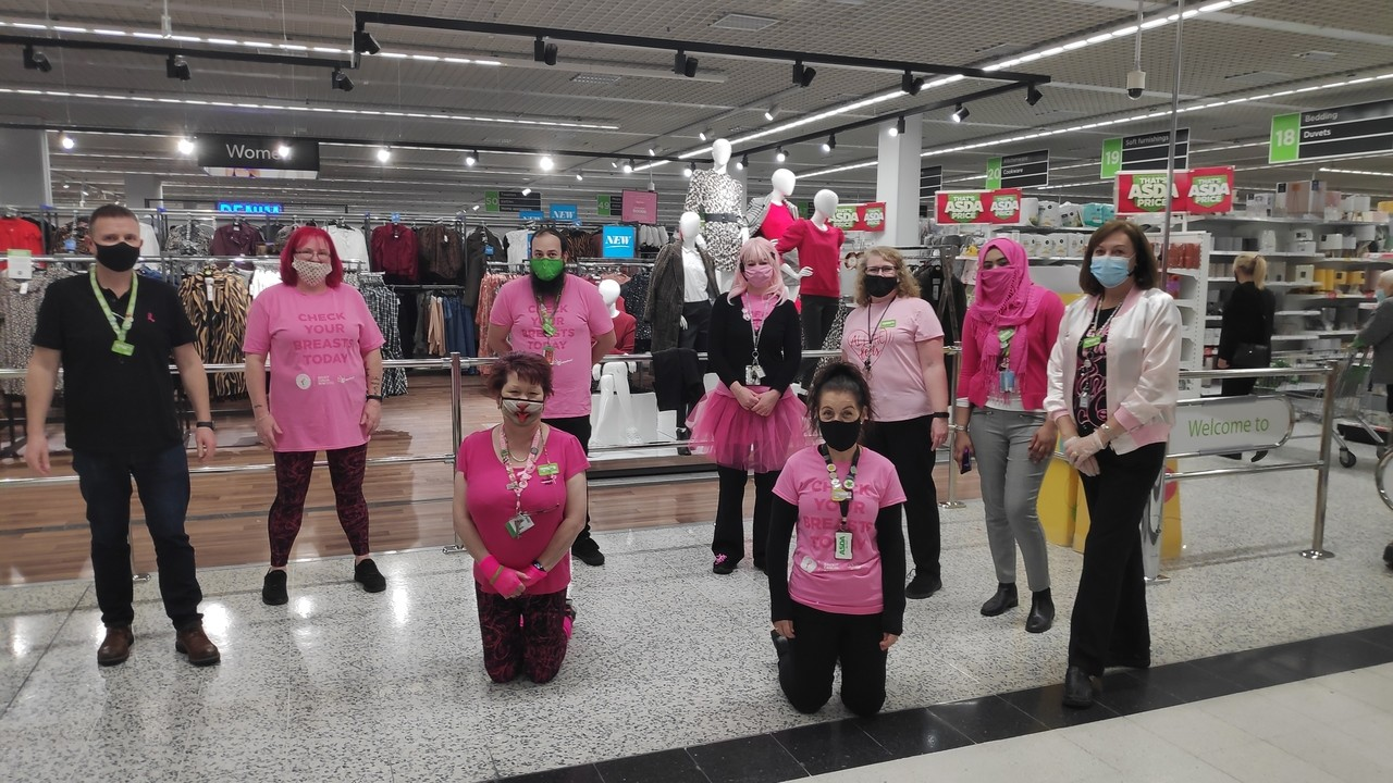 Wearing it pink at Asda Watford | Asda Watford