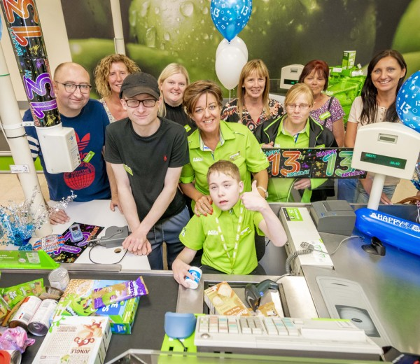 Birthday treat for Owen Porter at Asda Sutton in Ashfield