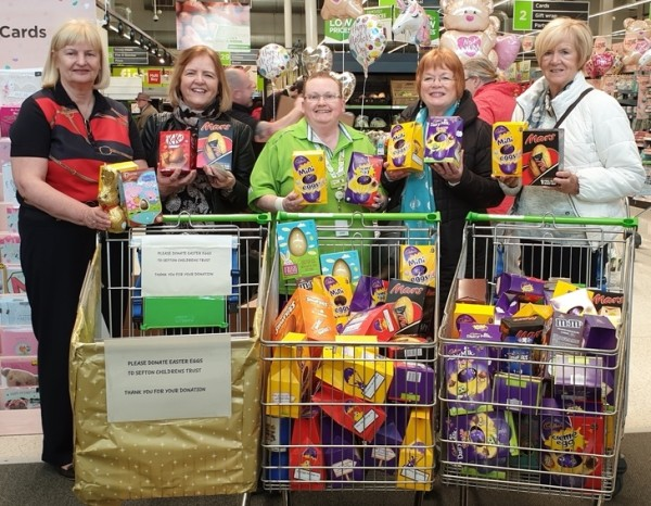 Easter donations at Asda Southport