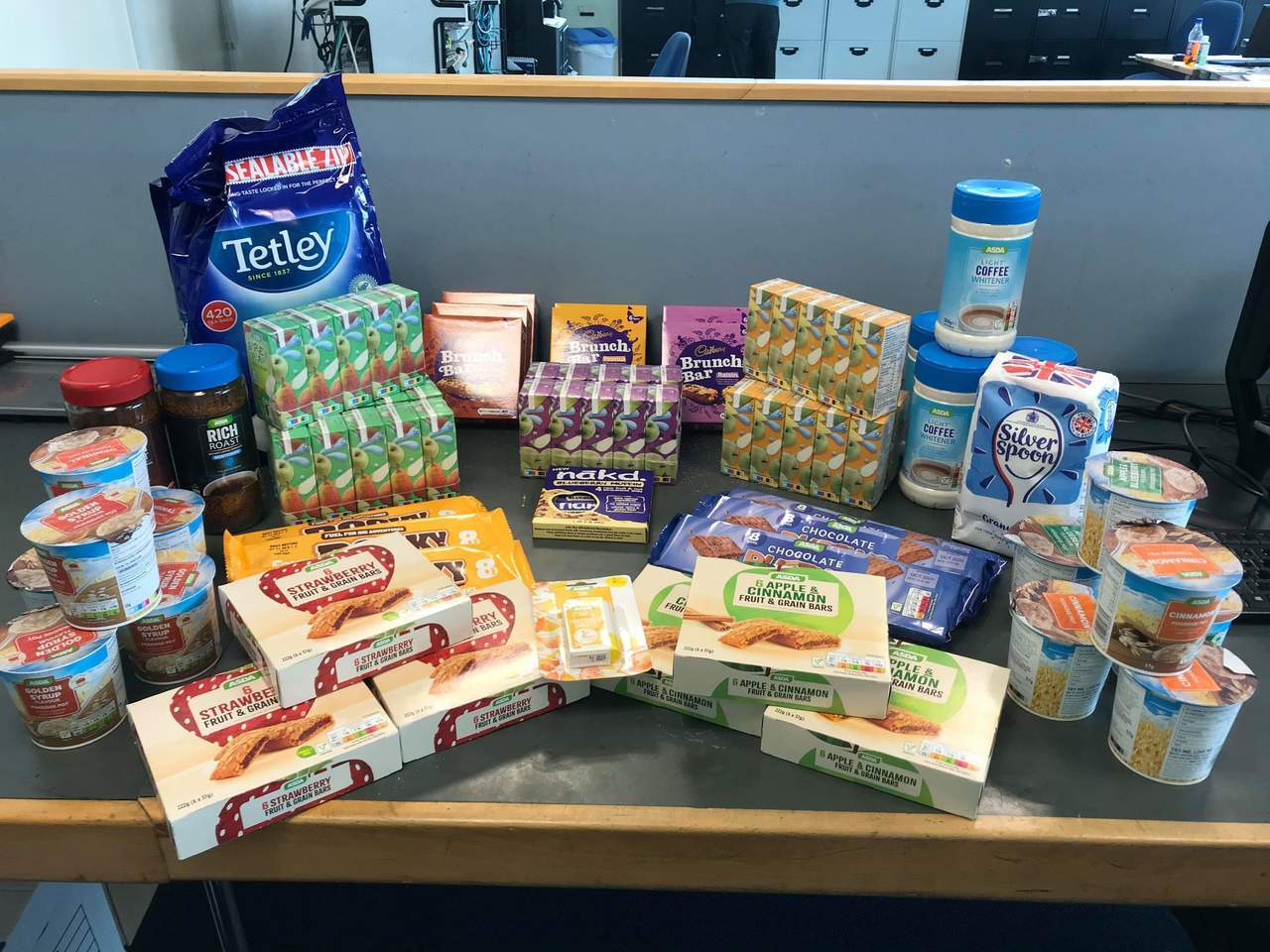 Drinks and snacks to fuel the Intensive Care  colleagues  | Asda Canterbury