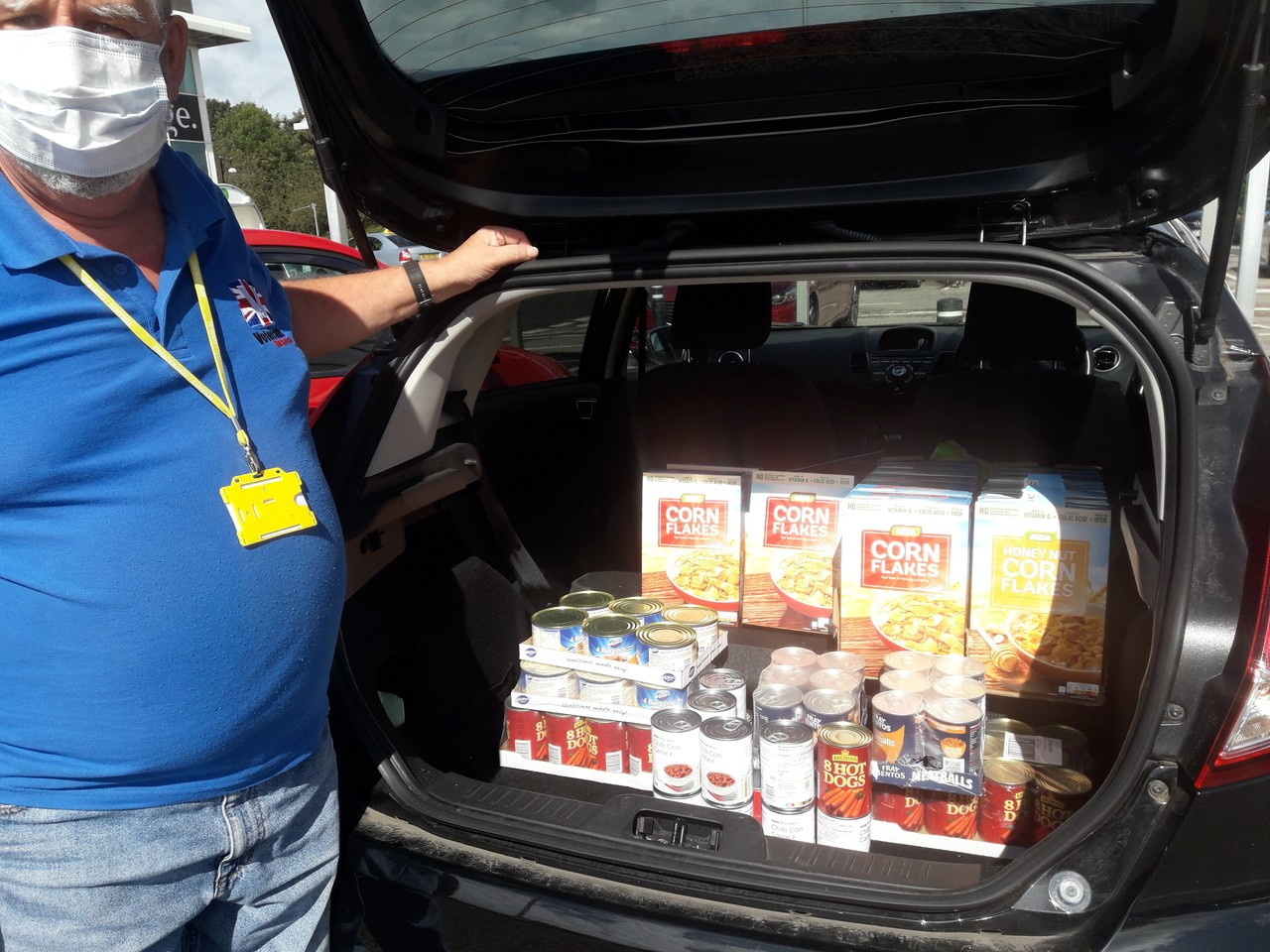 Donation to food bank | Asda South Shields