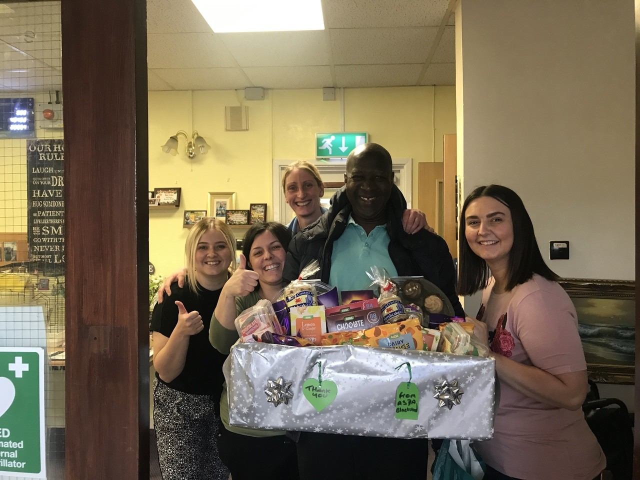 Thank you hamper for residential home staff | Asda Blackwood
