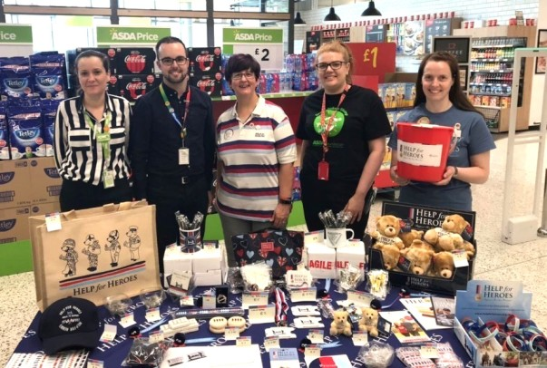 Help for Heroes collection at Asda South Ruislip
