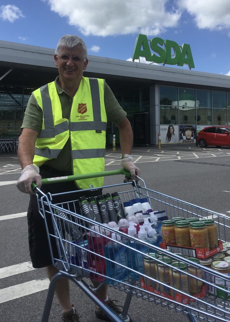 Salvation Army Foodbank donation | Asda Keighley