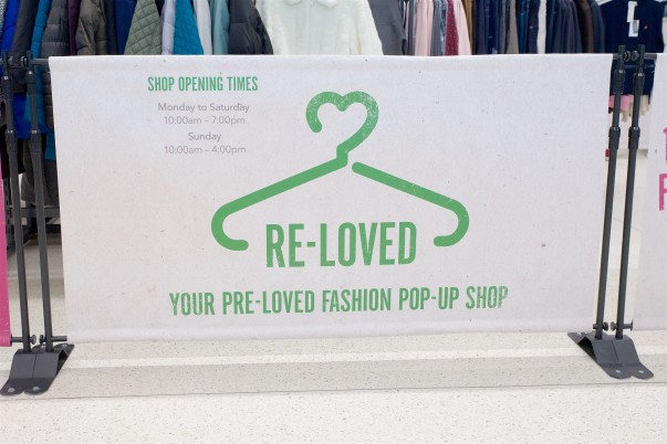 Pop up shop sign