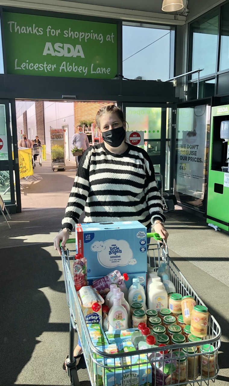 Donation to the Local Baby Foodbank.  | Asda Leicester Abbey Lane