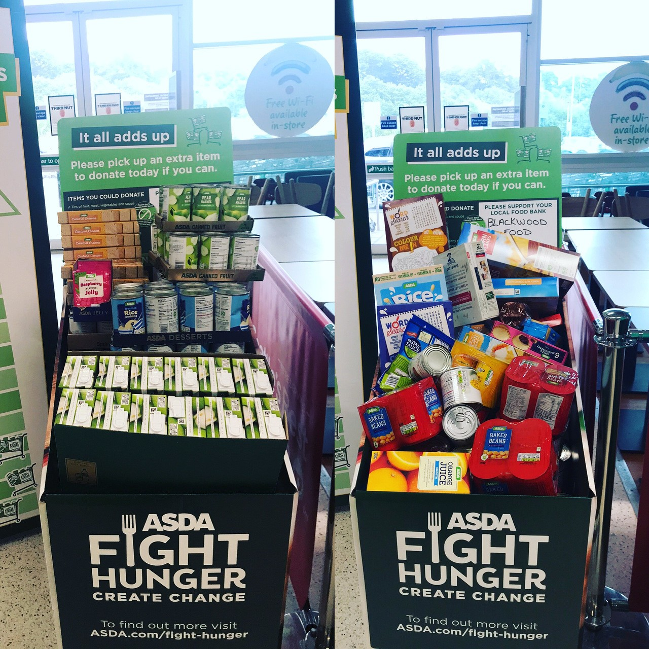 Fight hunger create change  | Asda Blackwood