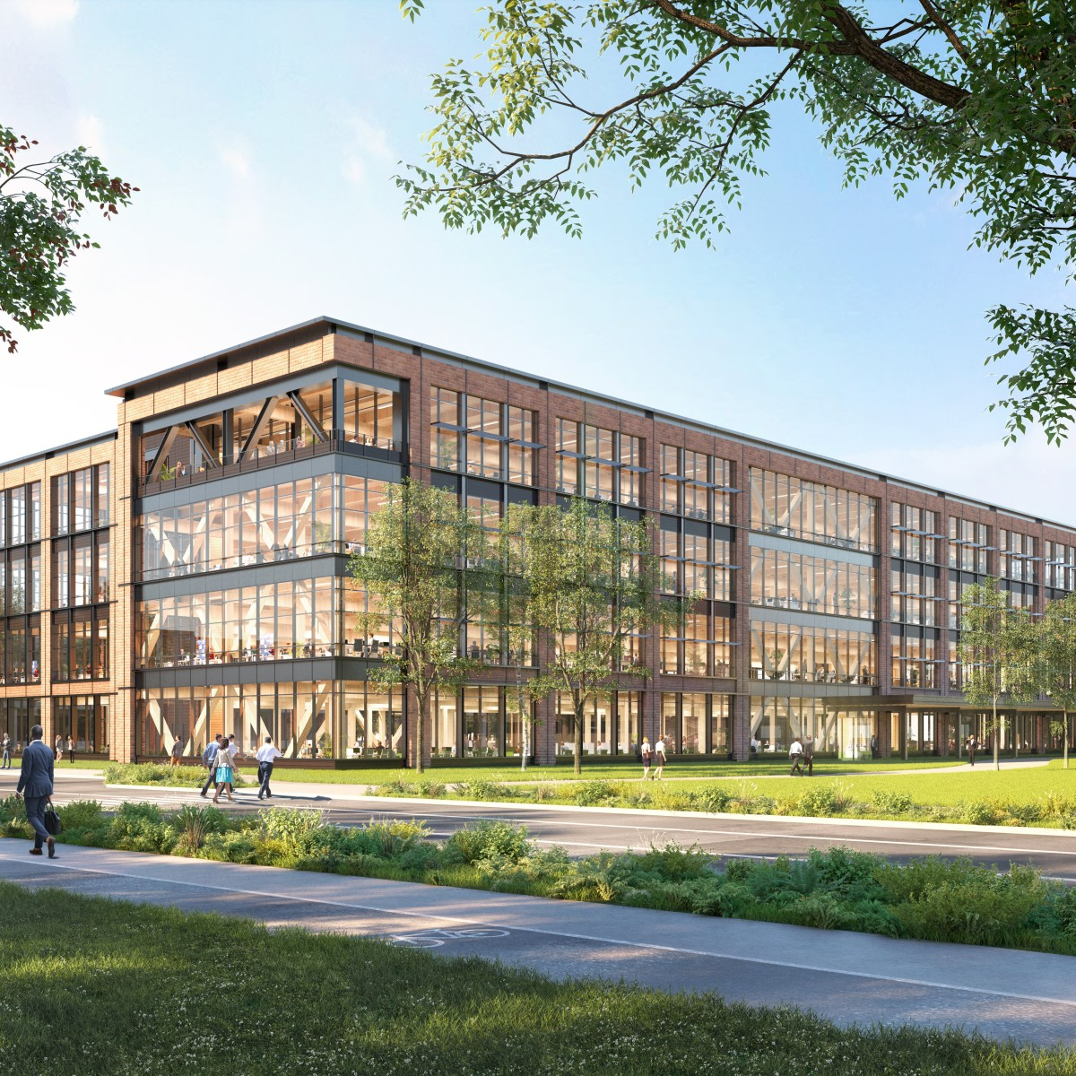 Illustrated Rendering Of Walmart Mass Timber Office