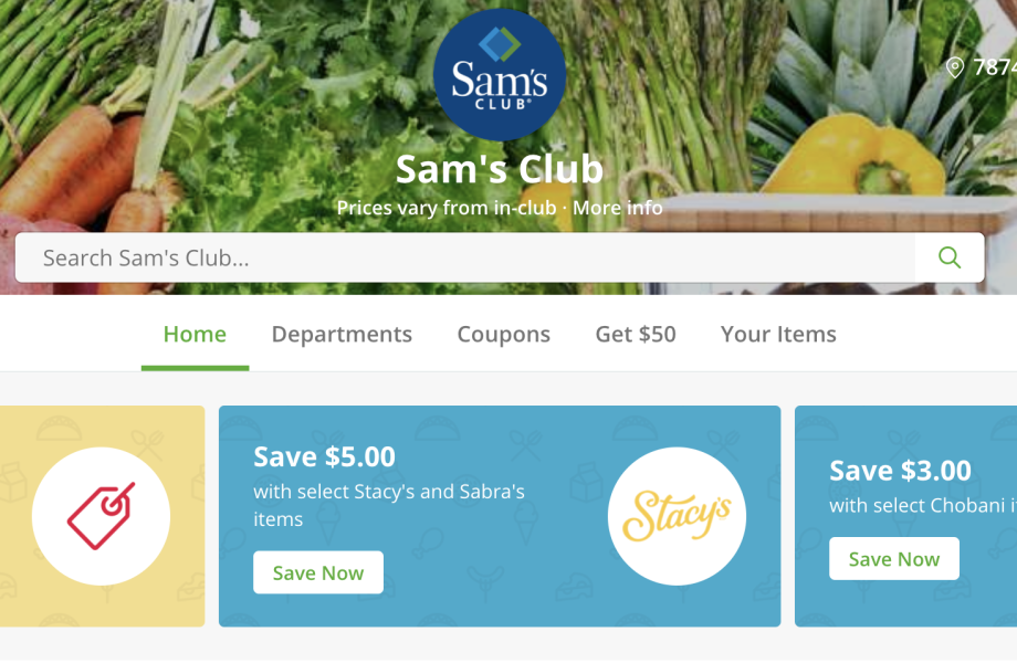 SC Instacart desktop screenshot