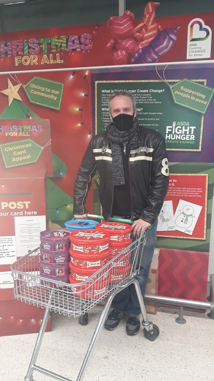 Our lovely local vicar Dave came in to collect tubs of sweets 🎅 | Asda Coventry