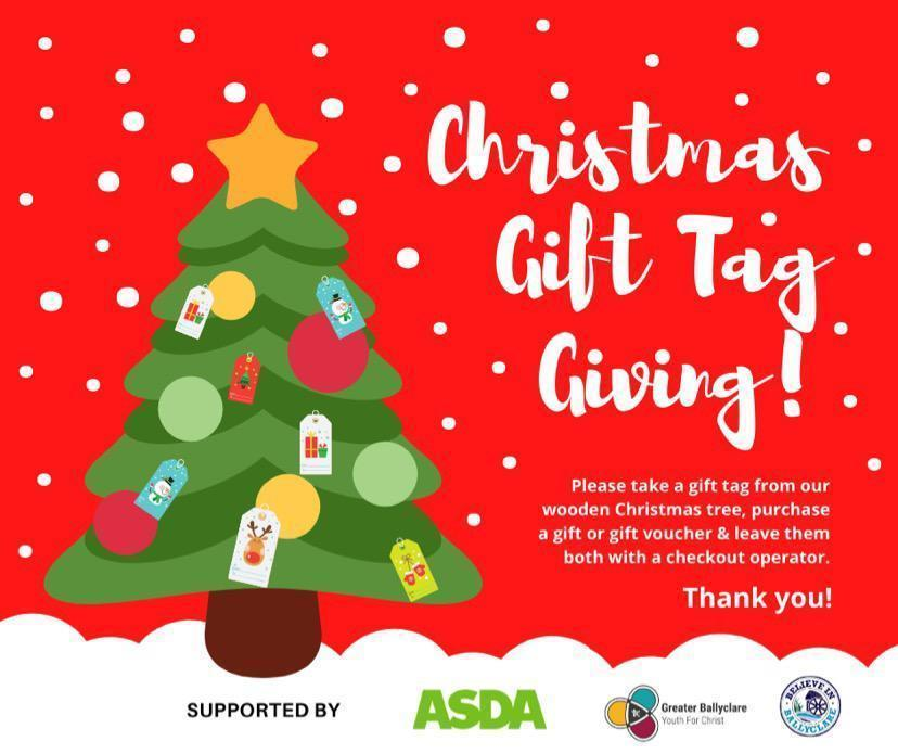 Christmas gift tag giving | Asda Ballyclare