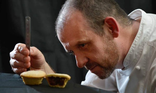 Asda chef Mark Richmond testing mince pies