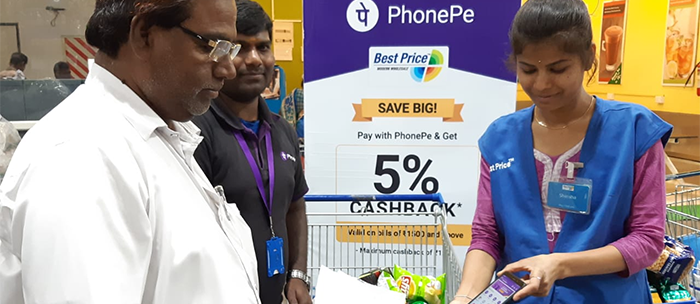 6020203f72 Walmart B2B Cash   Carry Business Supports Kirana Members with PhonePe s  Secure Payment Options