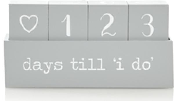 Asda wedding countdown calendar