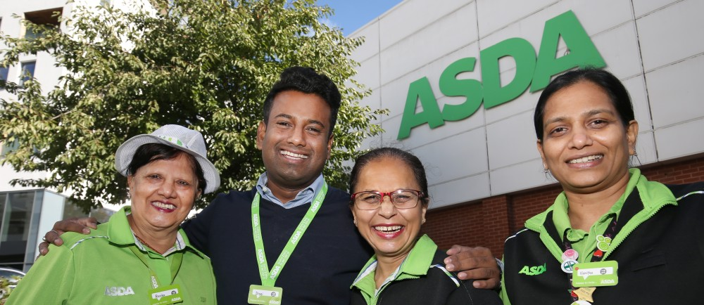 Long-serving colleagues at Asda Colindale