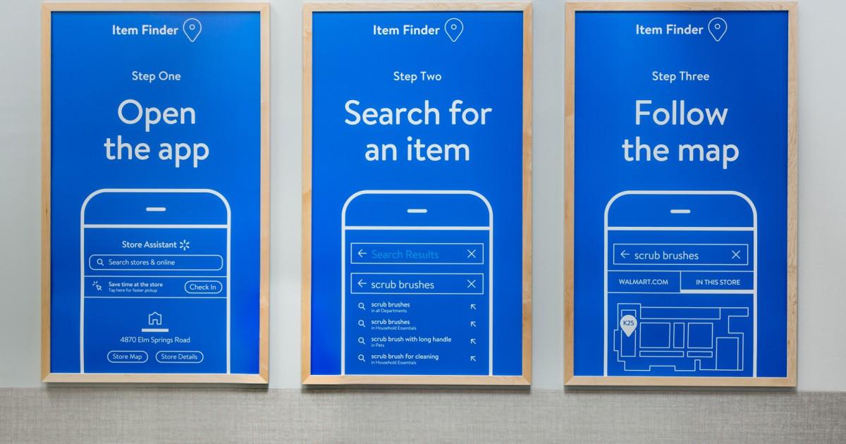 Walmart Store Update 2020 App Signage
