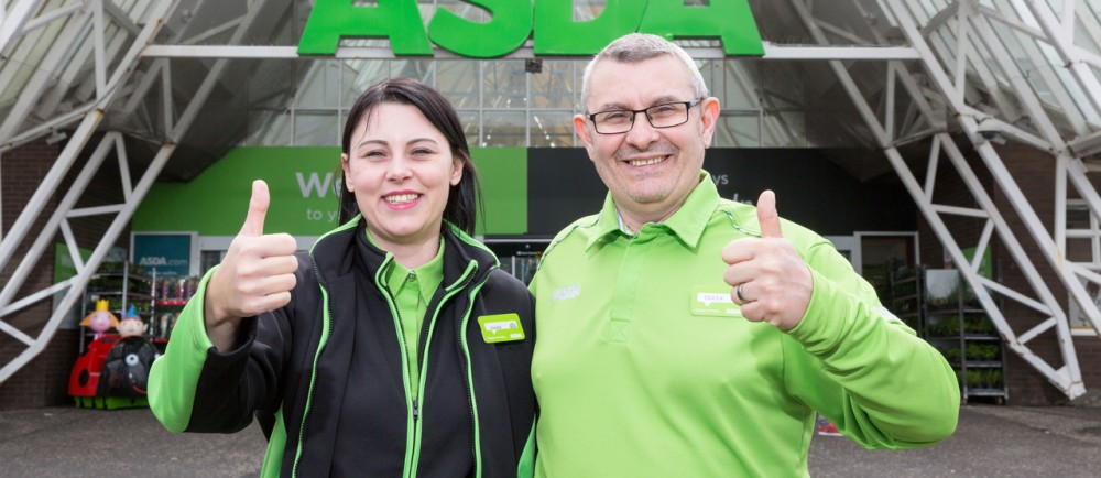 Jade and Chris at Asda Irvine