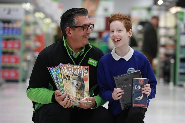 Mark Smyth from Asda Antrim with Tyree Hill