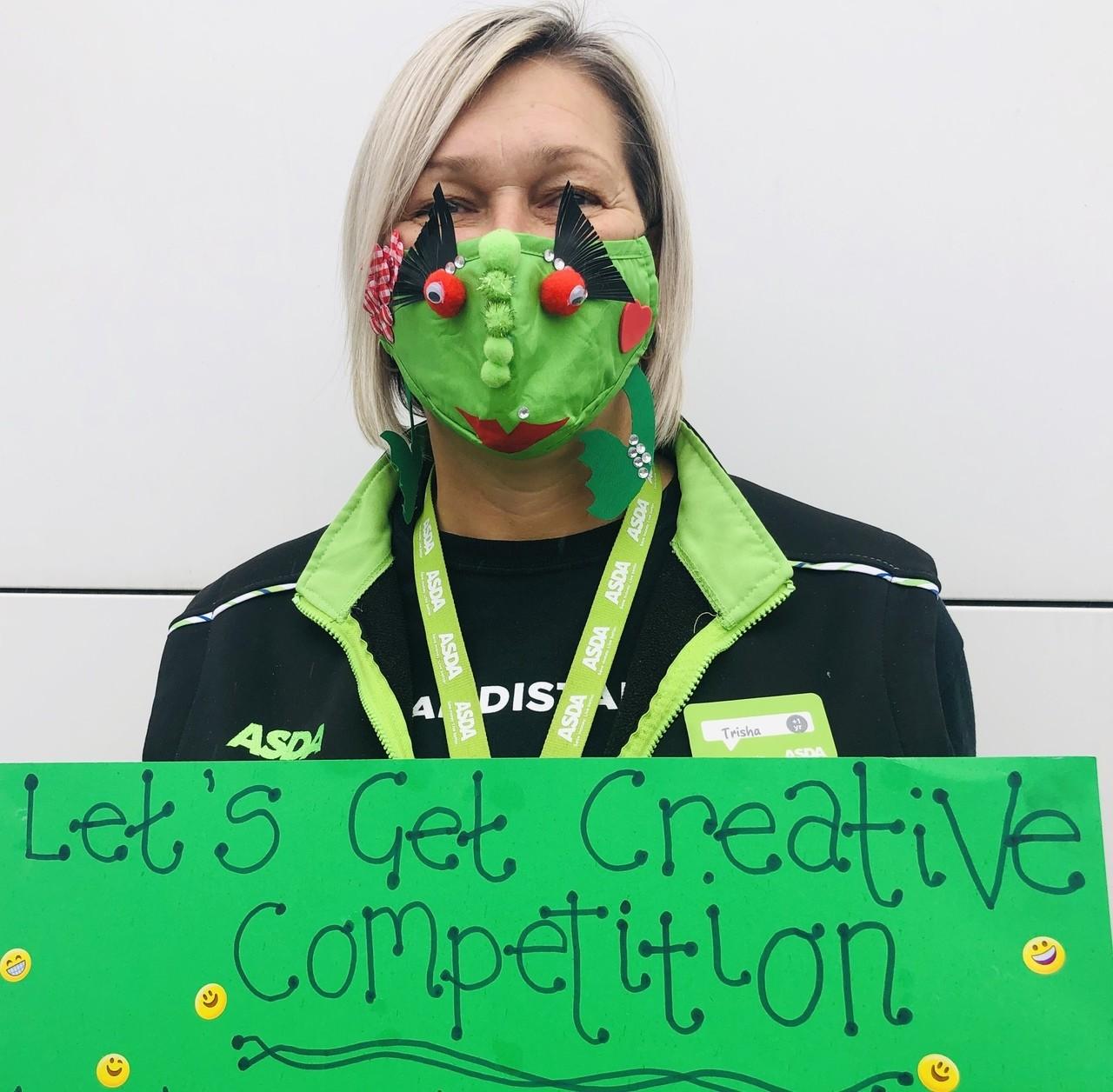 Creative face masks! | Asda Leicester Abbey Lane