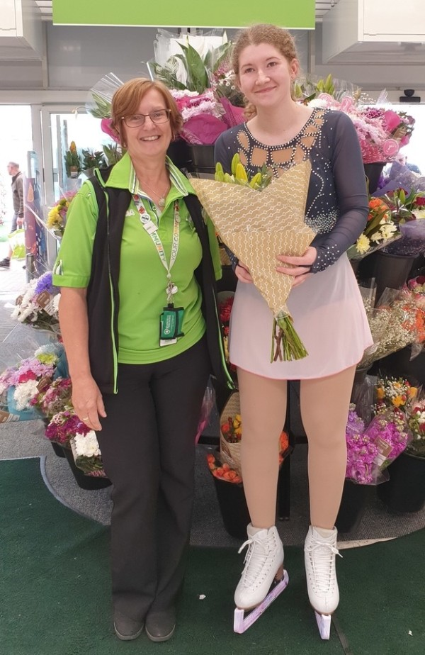 Michelle Baxter from Asda Basingstoke is competing in ice skating tournaments
