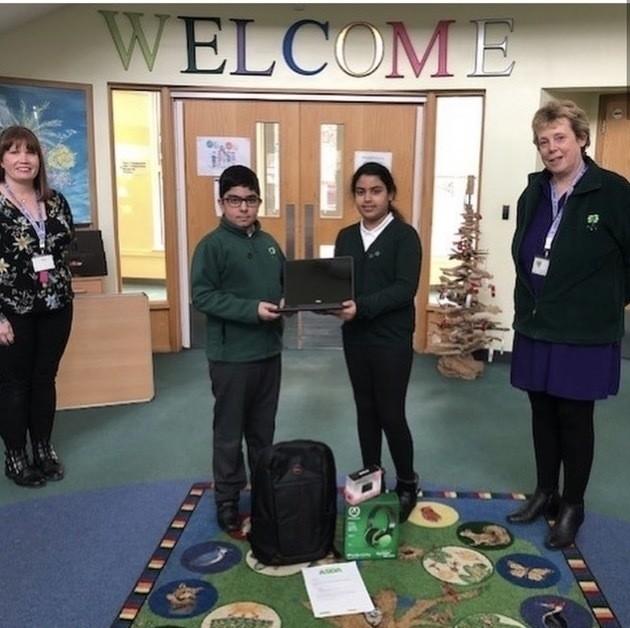 Laptops delivered to Pennwood School | Asda Slough