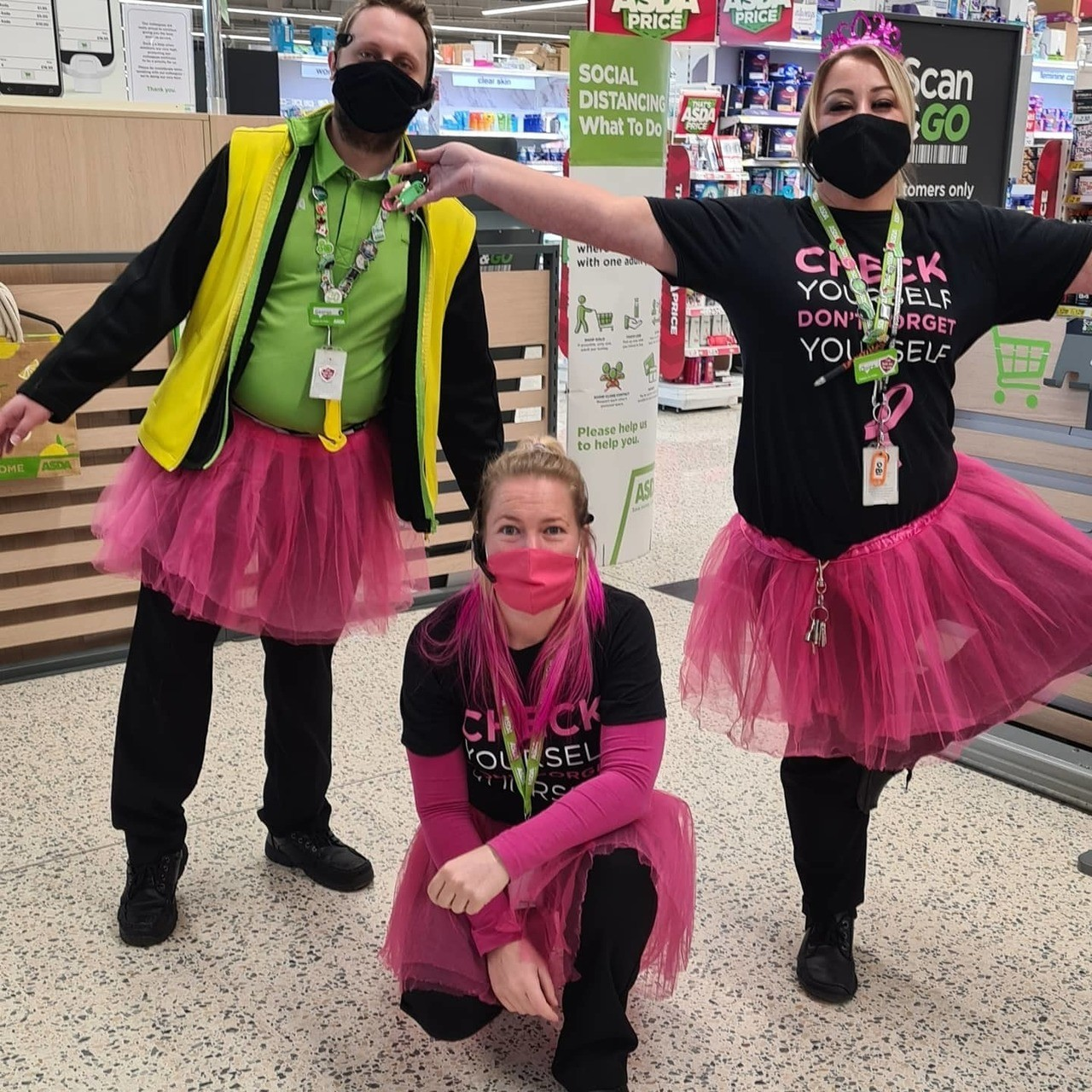 Raising awareness for Tickled Pink  | Asda Newport Isle of Wight