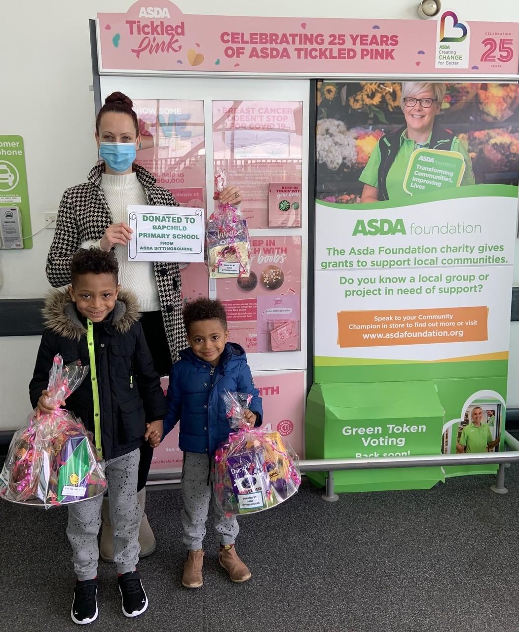 Easter Donation to Bapchild Primary School   Asda Sittingbourne