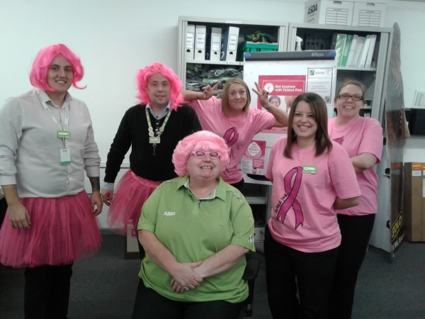 Asda Swindon Haydon colleagues Tickled Pink