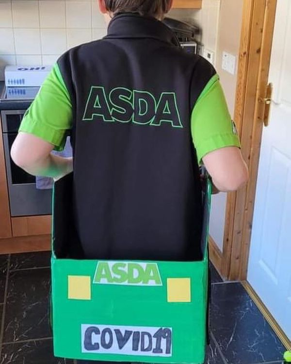 Rory Agnew dressed as a delivery driver from Asda Ballyclare