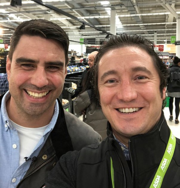 Gary Mac-Fall from IPL with Chris Bavin from The One Show