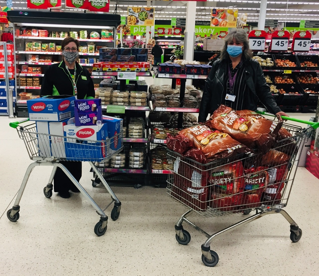 Donation to Sheltered Housing residents | Asda Fraserburgh