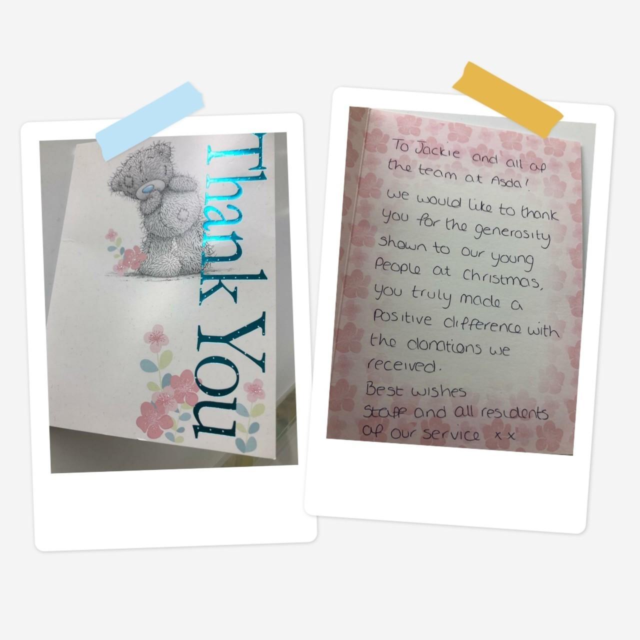 Thank you card | Asda Hartlepool