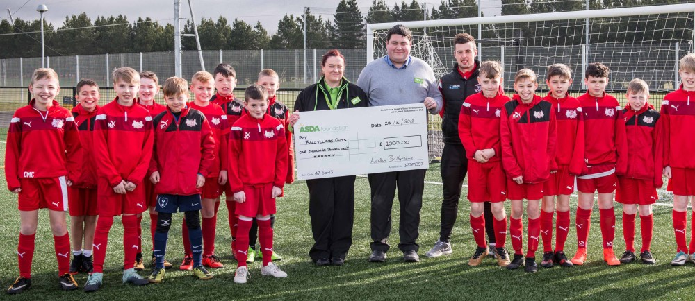 Ballyclare Colts receive an Asda Foundation donation
