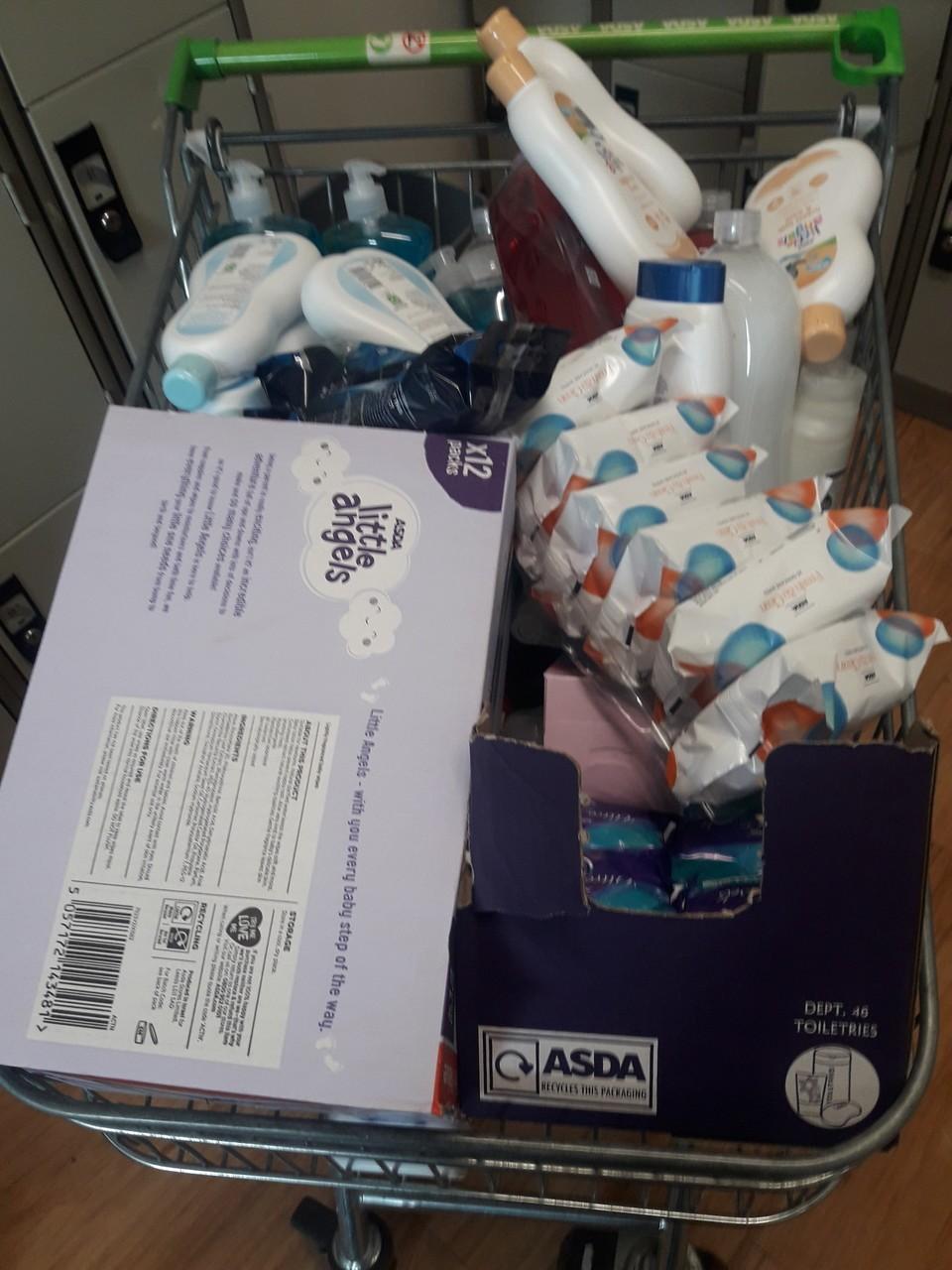 Donation of toiletries | Asda Hartlepool