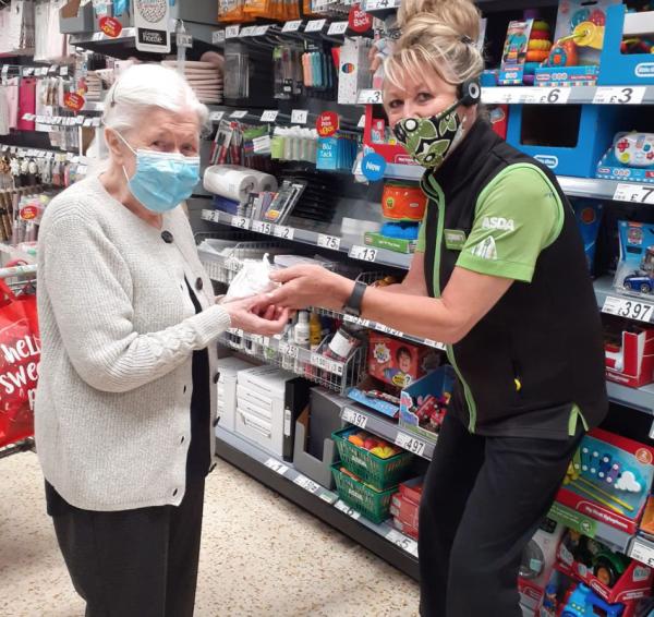 Mel Wynn from Asda Pontefract tracked down sweets for Mavis Foster