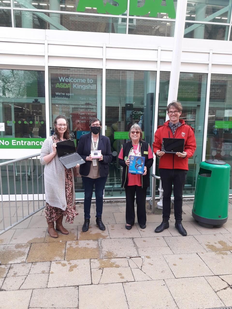 Laptop donation to Offham Primary School | Asda Kingshill