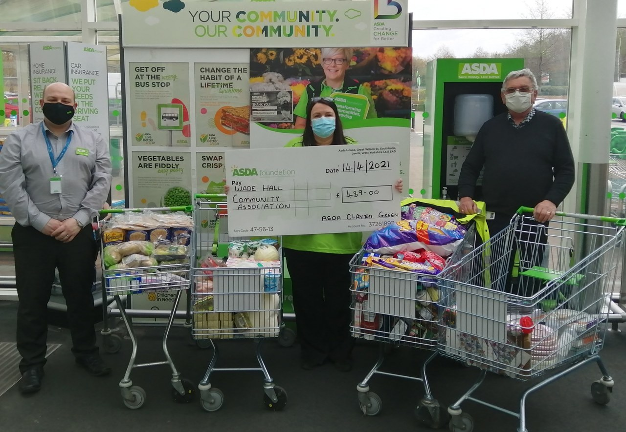 Grant for Wade Hall Community Association | Asda Clayton Green