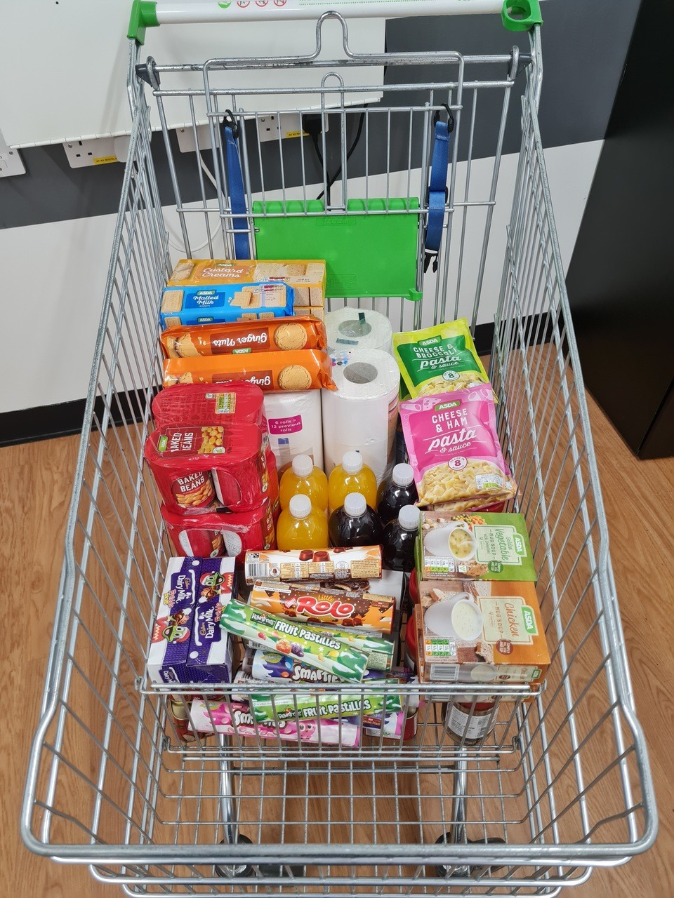Food donation ready for Norwich Christmas Hamper Appeal  | Asda Norwich Hall Road